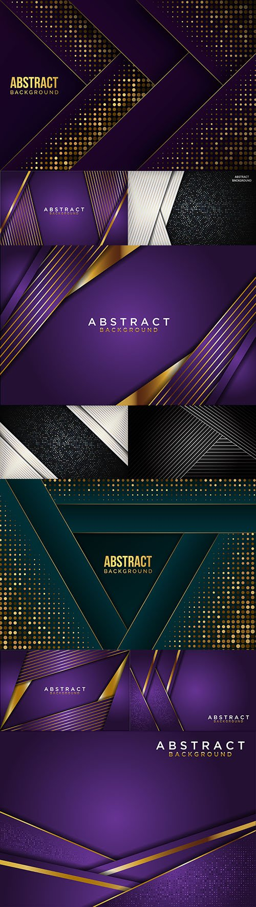 Abstract background and gold line design decorative element