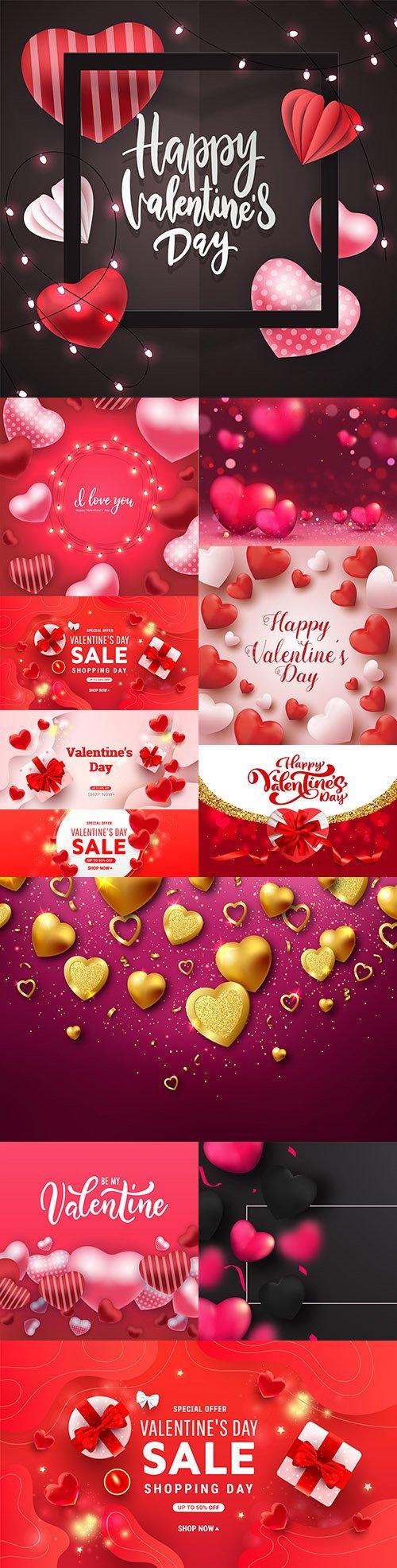 Valentine's Day romantic elements decorative illustrations 15