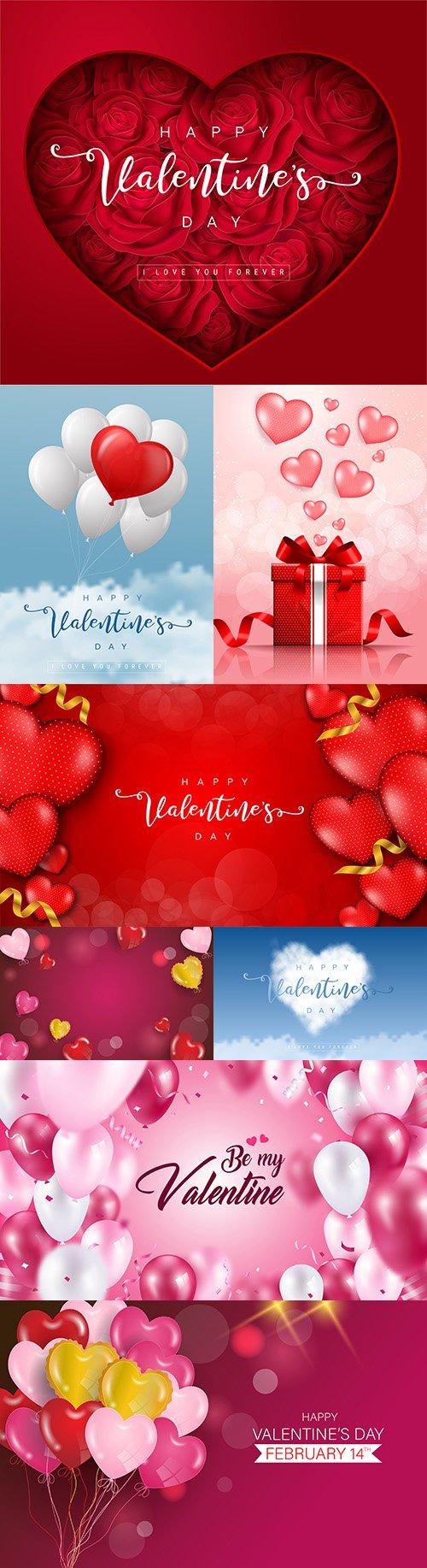 Valentine's Day romantic elements decorative illustrations 14
