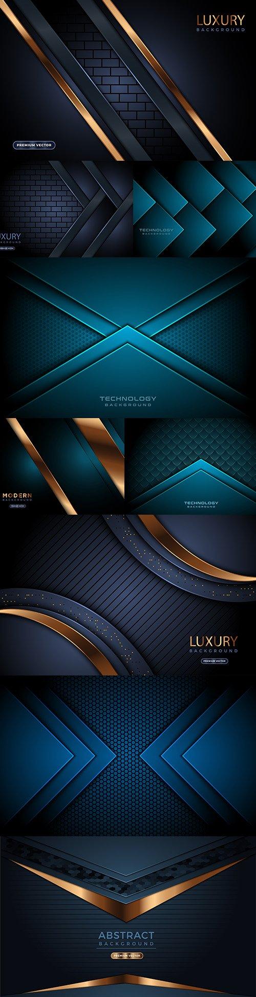 Dark background and gold design decorative element 3