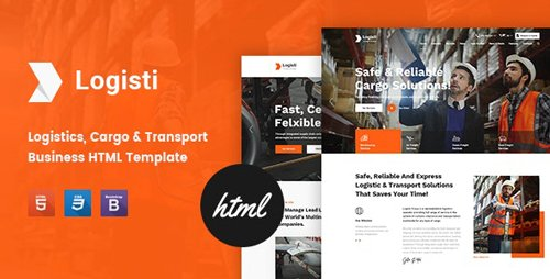 ThemeForest - Logisti v1.1 - Logistics & Transport HTML5 Template - 24940766