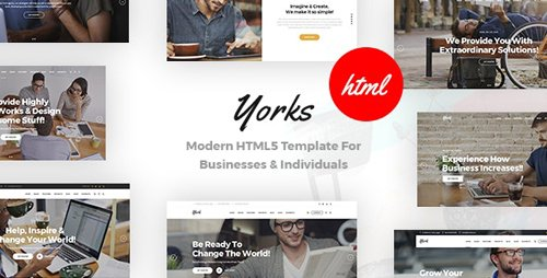 ThemeForest - Yorks v1.0 - Modern HTML5 Template For Businesses & Individuals - 24651820