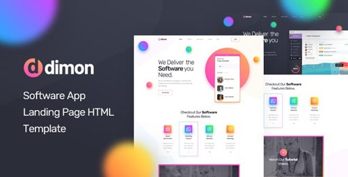 ThemeForest - Dimon v1.0 - Software App Landing Page HTML Template - 25391696