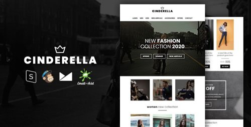 ThemeForest - Cinderella v1.0 - E-commerce Responsive Email Template with MailChimp Editor, StampReady & Online Builder - 25400258