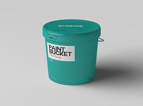 Paint Bucket Mockup Template