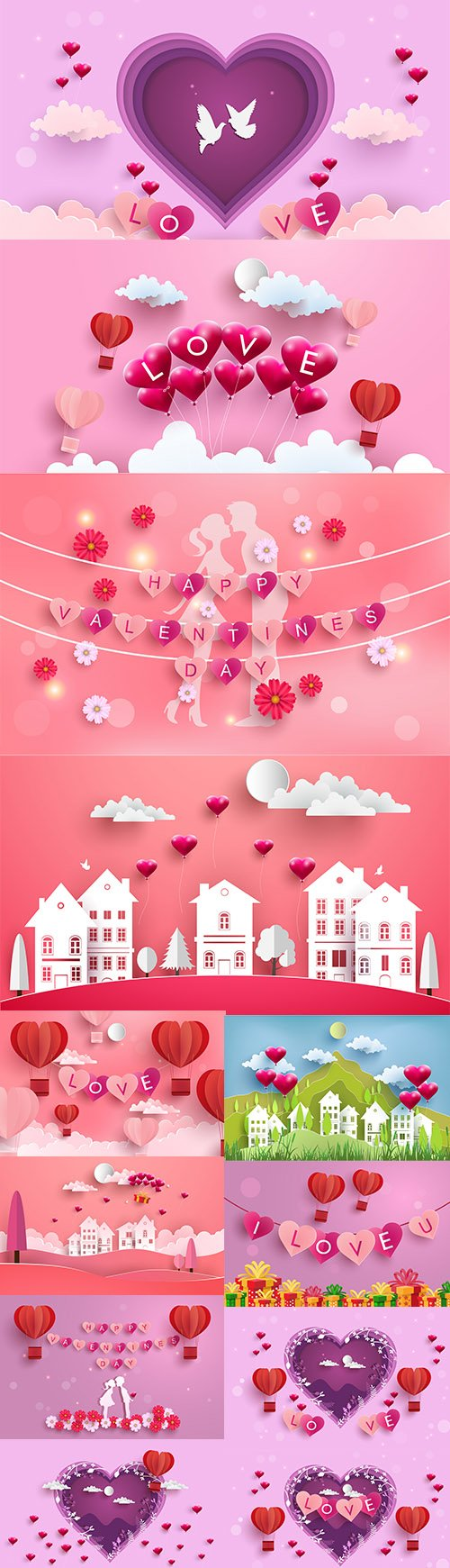 Happy Valentines Day Illustration Set Vol 2