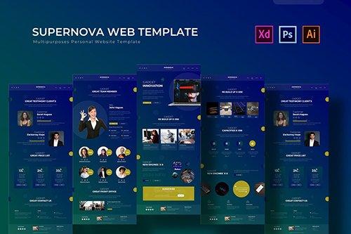 Supernova | PSD Web Template