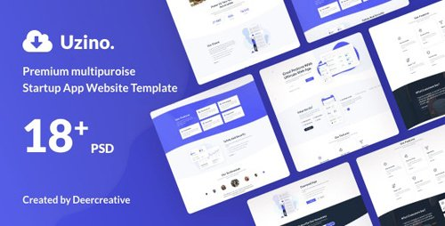 ThemeForest - Uzino v1.0 - Premium Startup App PSD Template - 25434017