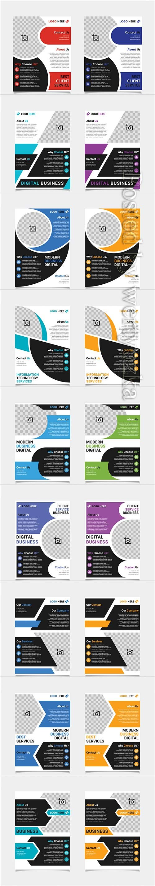 Business brochure and flyer vector design template, business company poster