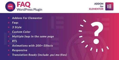 CodeCanyon - Faq for Elementor WordPress Plugin v1.0 - 25454053