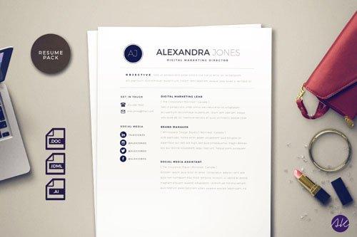 Clean Styled Resume Pack (InDesign/Word) Templates