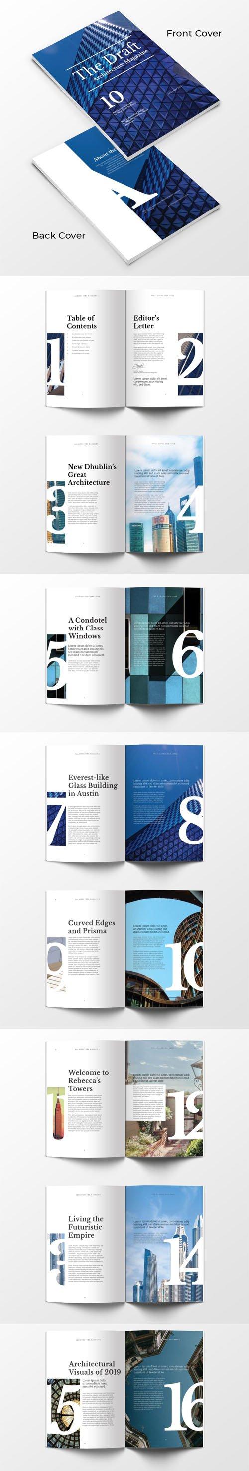 Architecture Magazine PSD Templates