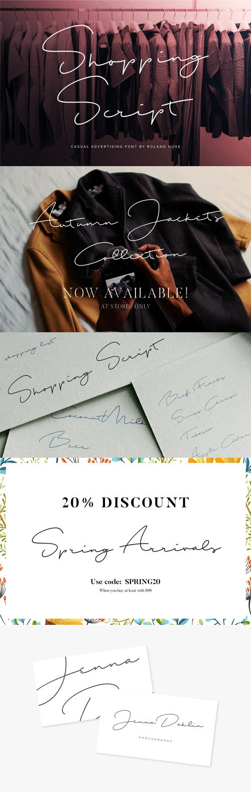 Shopping Script - Casual Advertising Font