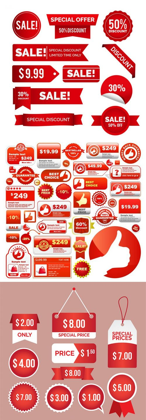 Sales Elements Big Collection in Vector