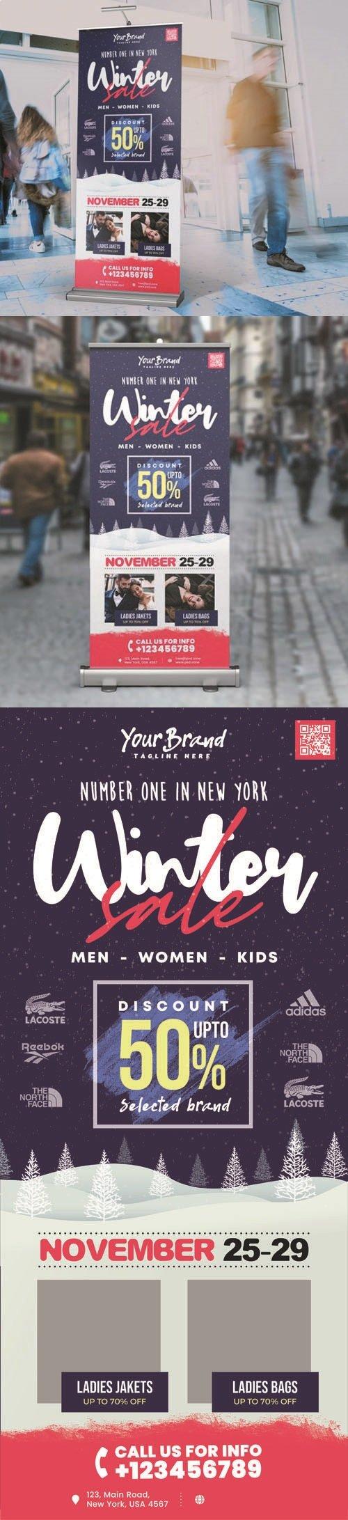 Winter Sale Roll-up PSD Design Template