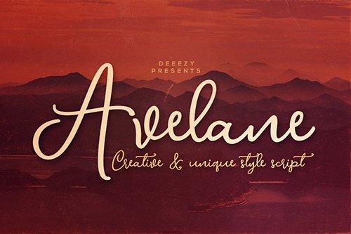 Avelane Script Font