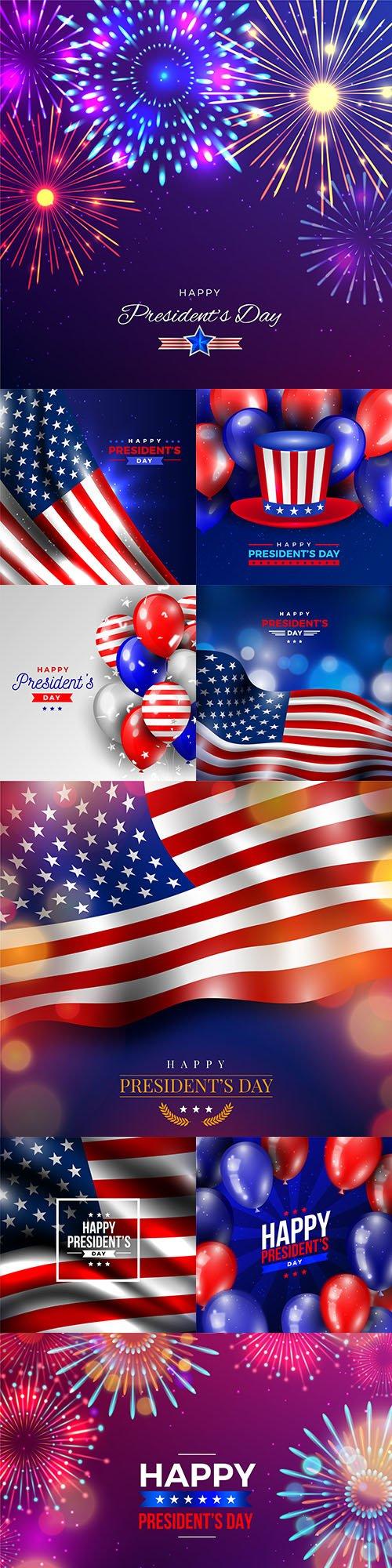 Happy President Day decorative illustrations 3