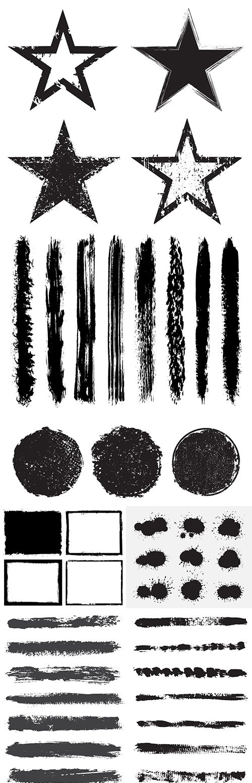 Grunge black ink brush and abstract drawing texture 6