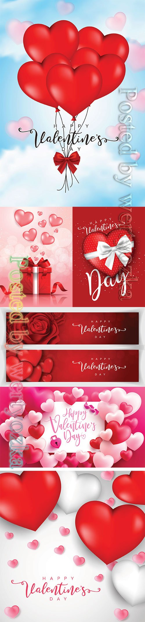 Valentine's Day poster or banner, background for love and Valentine's day concept