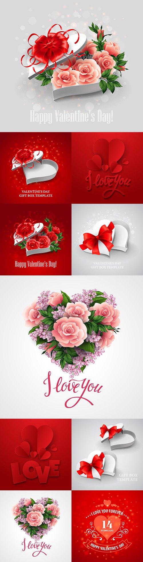 Happy Valentine's Day romantic decorative illustrations 33