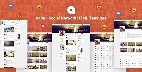 ThemeForest - Adda v1.0 - Social Network HTML Template - 25498684