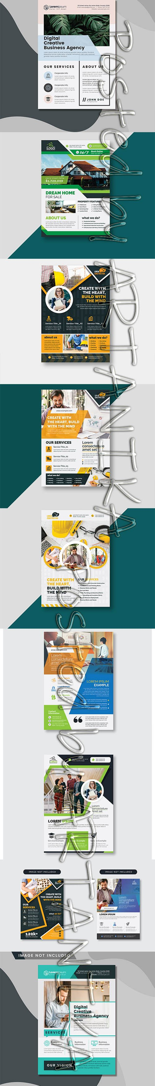 Mix Flyer PSD and Vector Template Pack V 3