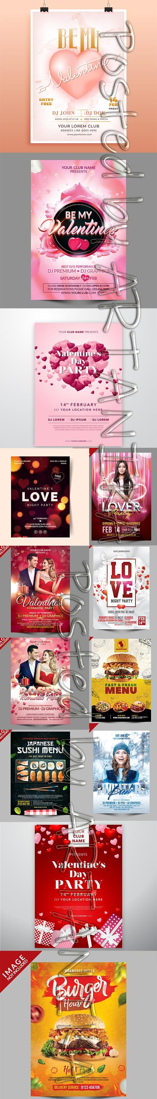 Mix Flyer PSD and Vector Template Pack
