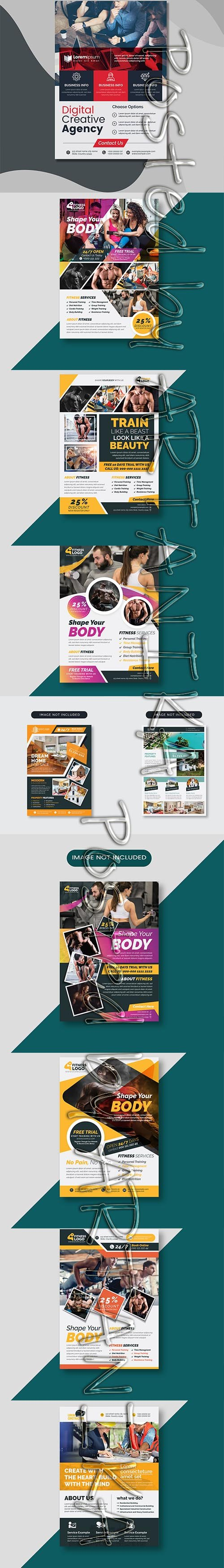 Mix Flyer PSD and Vector Template Pack V 2