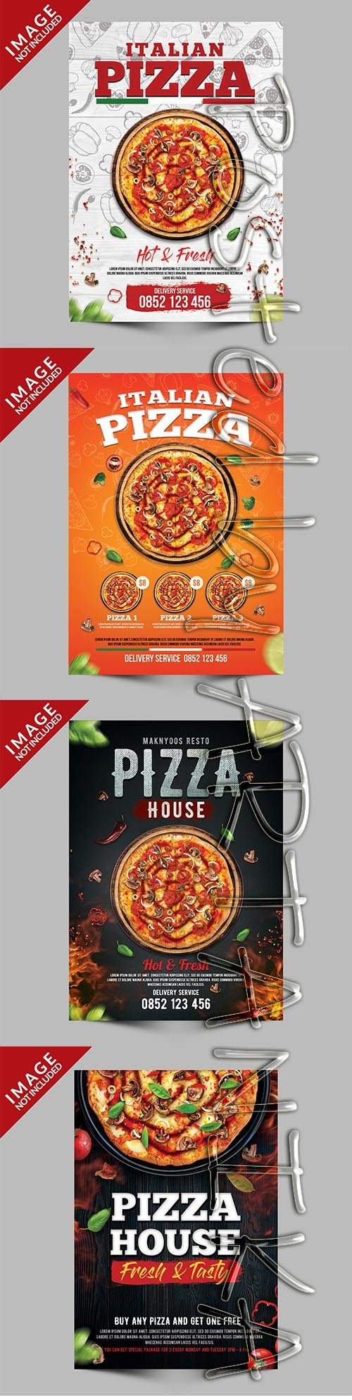 Pizza Premium Poster Template Set