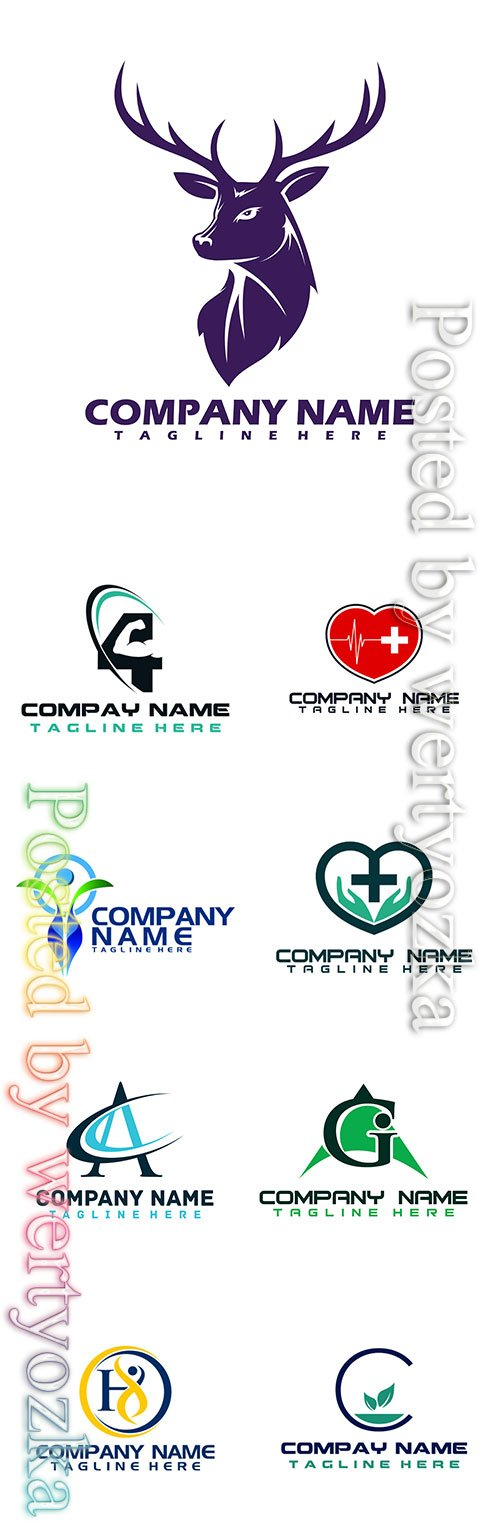 Company logo icon isolated white background
