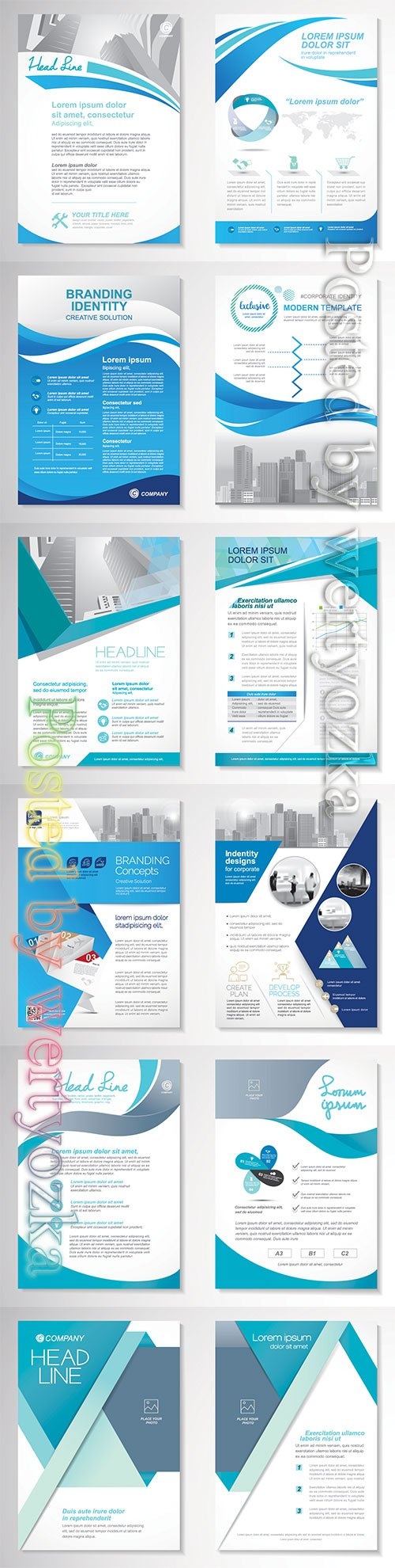 Template vector design for brochure, annual report, magazine