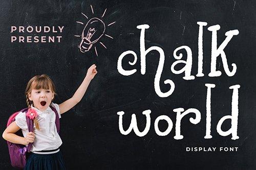 Chalk World Display Font