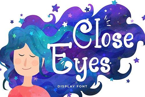 Close Eyes Playful Display Font