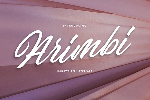 Arimbi Handwritten Typeface Font