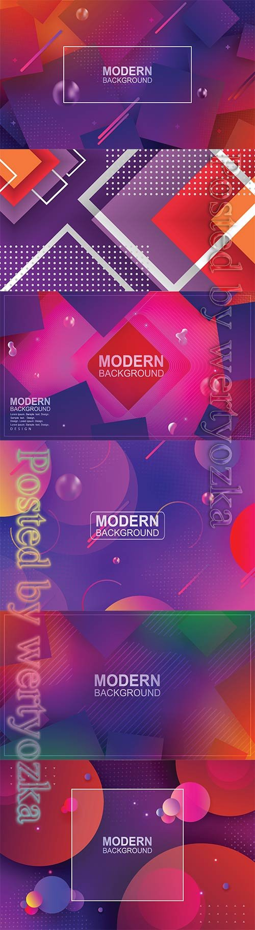 Abstract luxury vector backgrounds with different shapes # 5