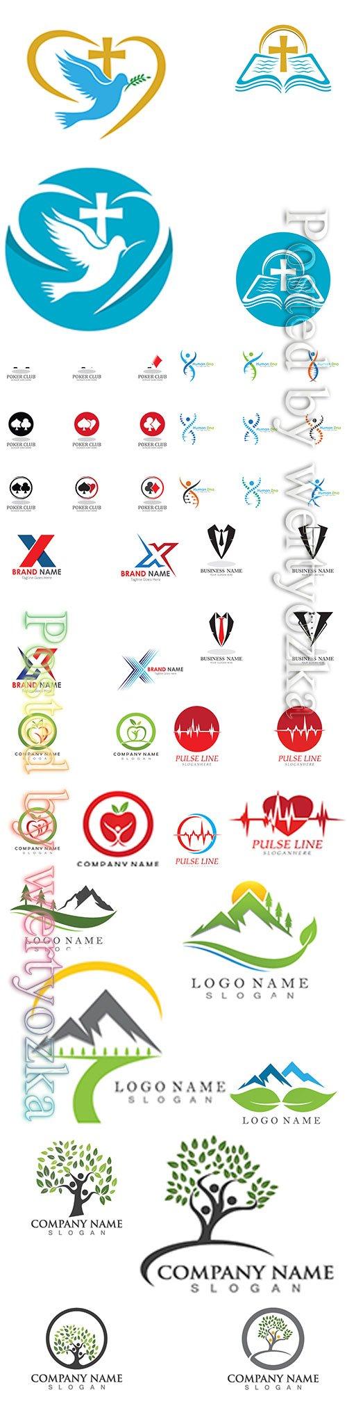Logos in vector set