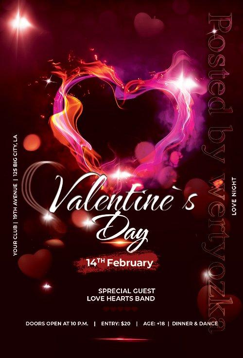 Valentines Day Event - Premium flyer psd template