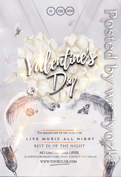 Happy Valentines Party - Premium flyer psd template