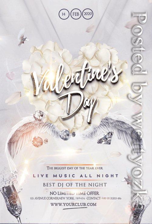 Happy Valentines Party - Premium flyer psd template