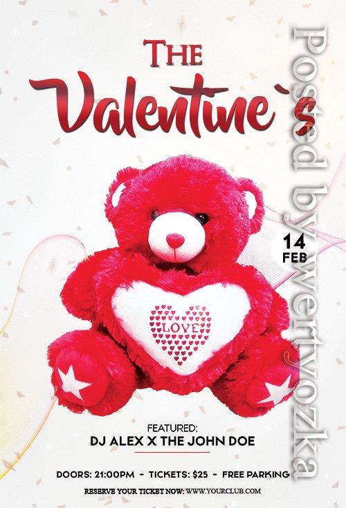 The Valentines Event - Premium flyer psd template