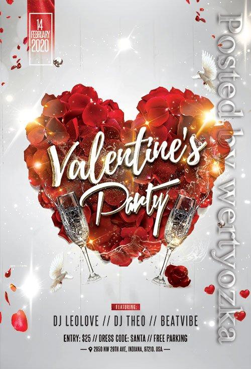 Love Affair Valentines Party  - Premium flyer psd template