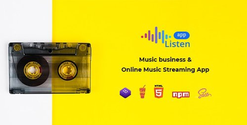 ThemeForest - Listen v2.0.0 - Online Music Streaming App - 23819080
