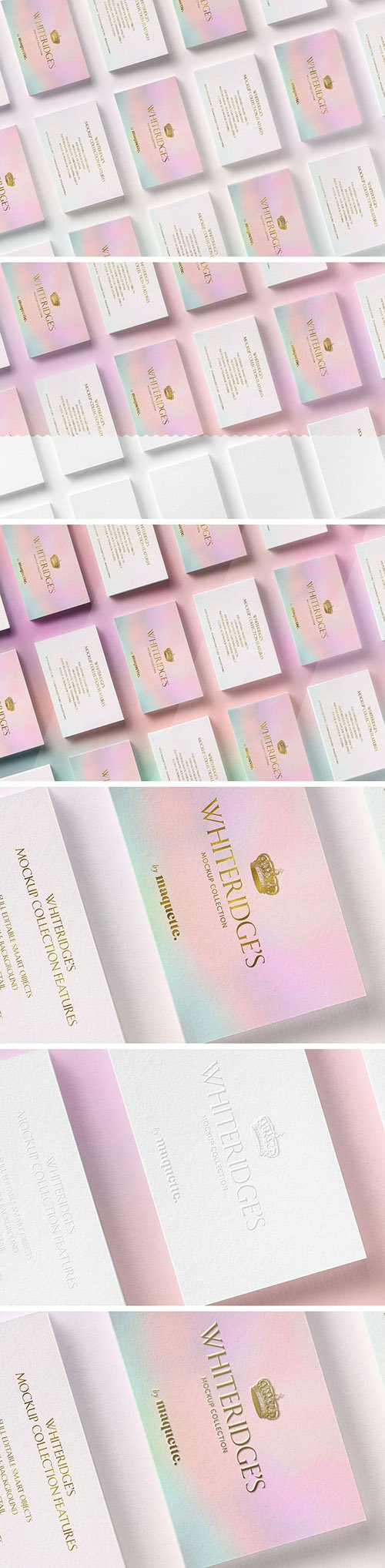 Array of Luxury Gold-Embossed Business Cards Mockup 2 130437028 PSDT