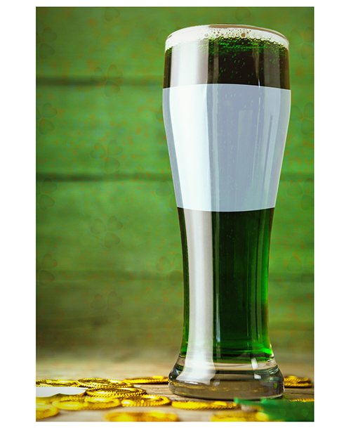 St. Patrick's Day Glass of Beer Mockup 136999402