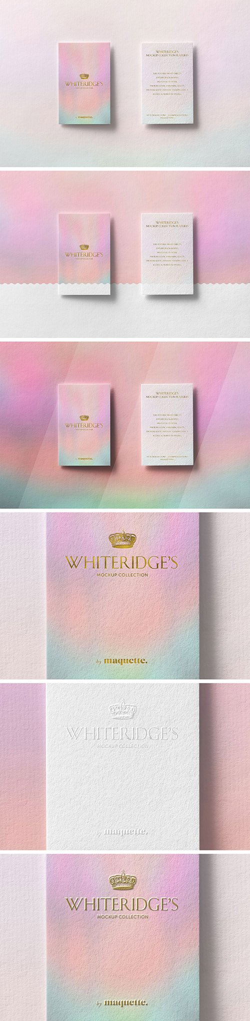 Two Luxury Business Cards with Gold Embossing Mockup 3 130420837 PSDT
