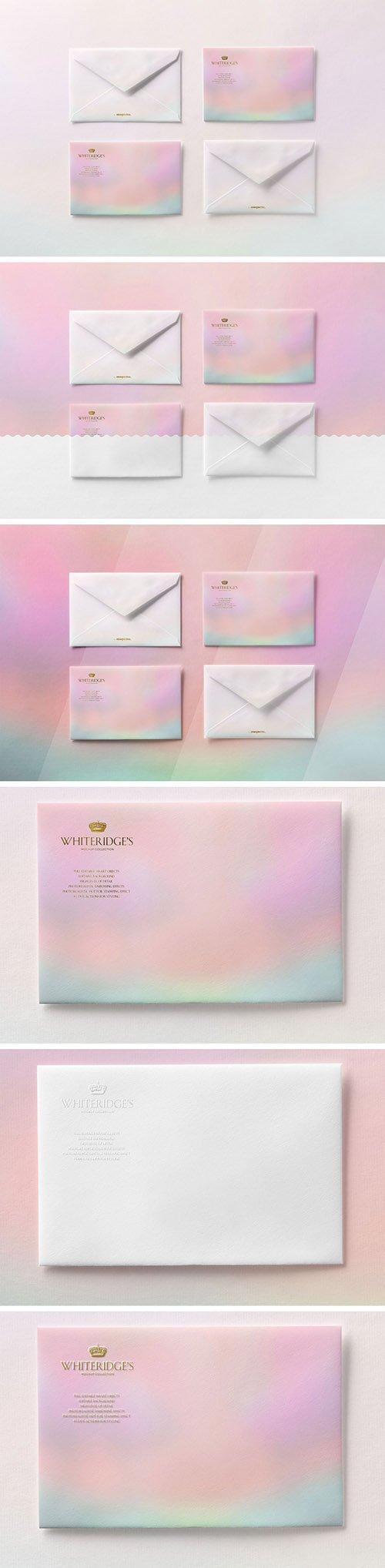 Four Luxury Gold-Embossed Envelopes Mockup 1 130430110 PSDT