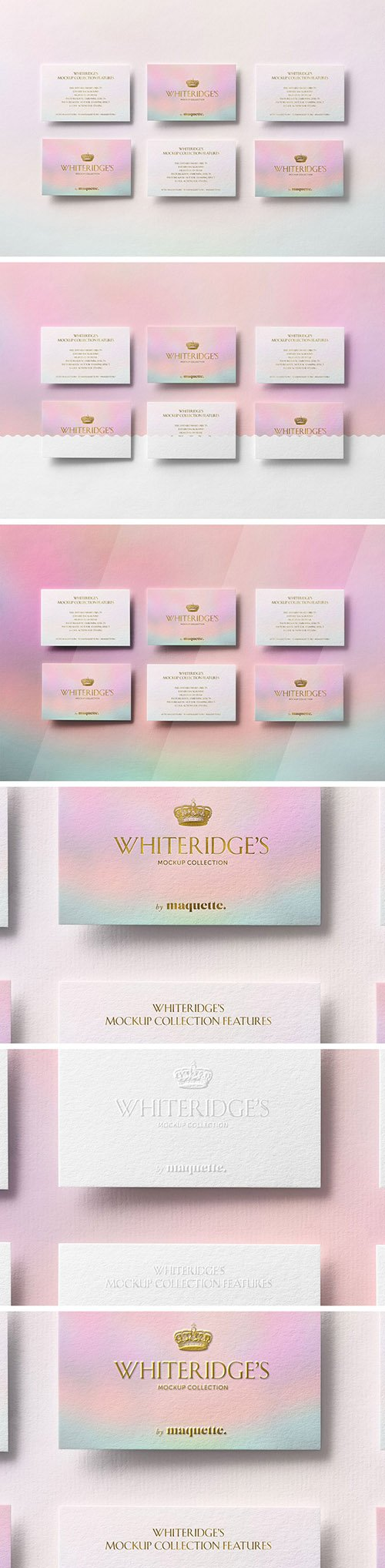 Six Luxury Business Cards with Gold Embossing Mockup 1 130418380 PSDT