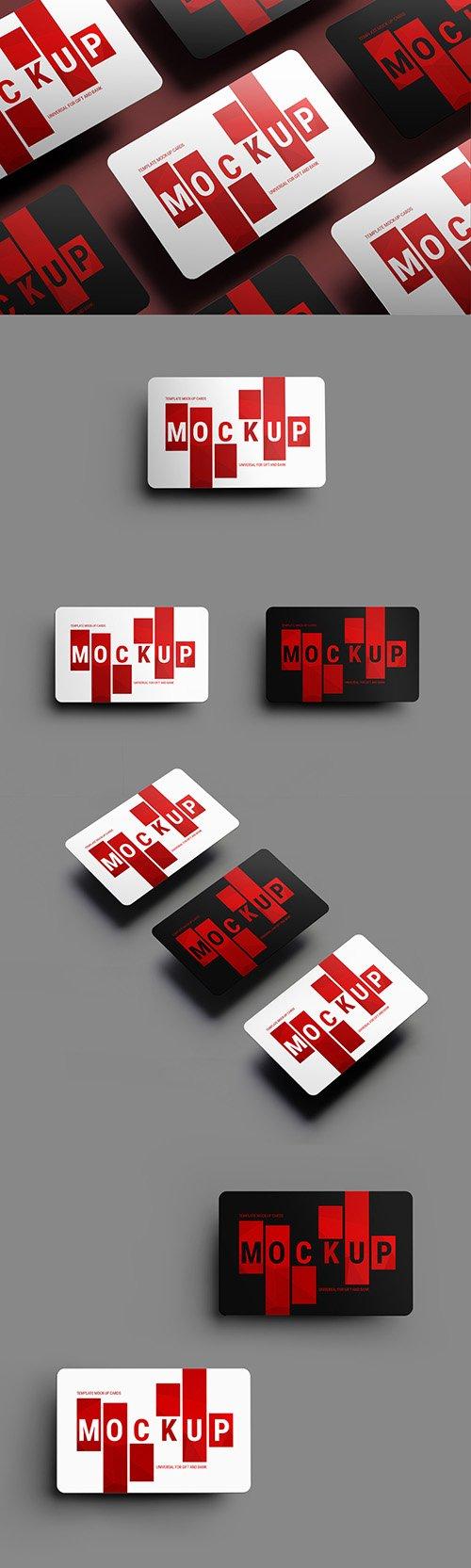 5 Gift/Bank Card Mockup Layouts 199022290 PSDT