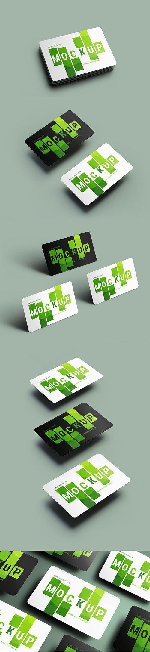 5 Gift/Bank Card Mockup Layouts 199022615 PSDT