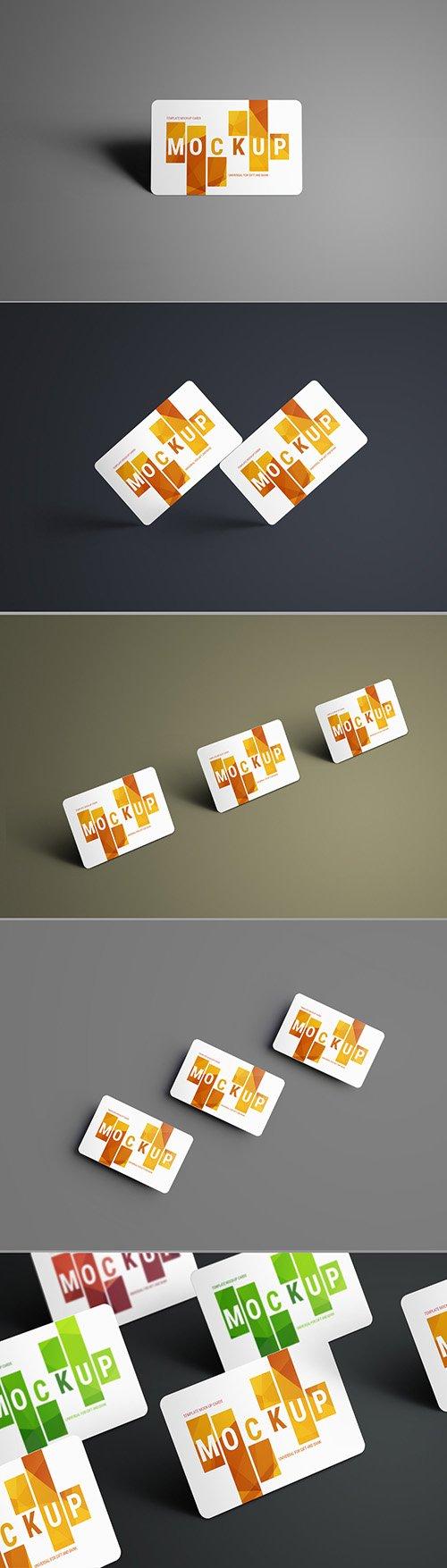 5 Gift/Bank Card Mockup Layouts 199017726 PSDT